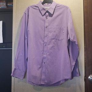 Van Heusen Men's Dress Shirt Chambray 17.5